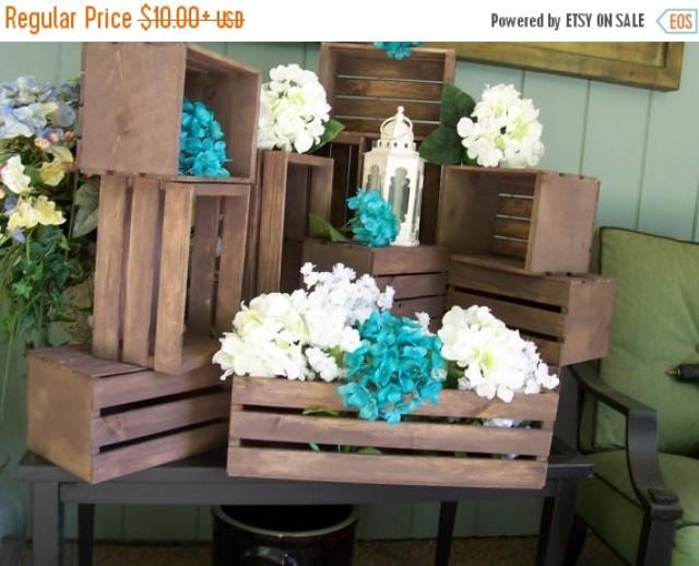 on sale wood crates rustic wedding wedding reception table