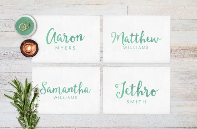 Wedding place cards wedding reception decor place cards for Wedding place name cards