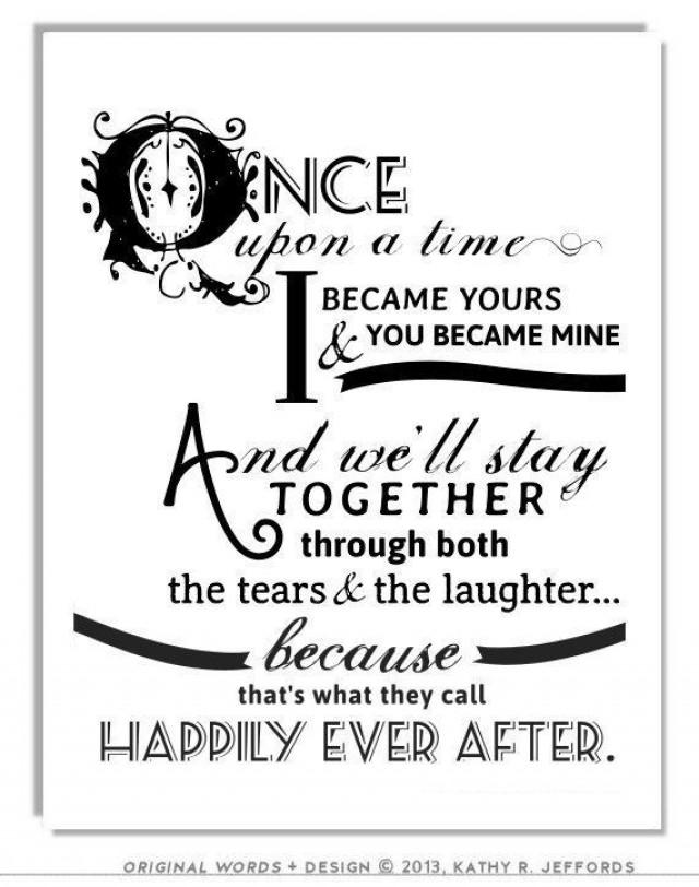 Just Married Quotes Stunning Happily Ever After Quote Print For Newlyweds Just Married Couple