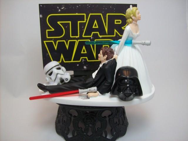 Star Wars Darth Vader Stormtrooper Bride And Groom Funny