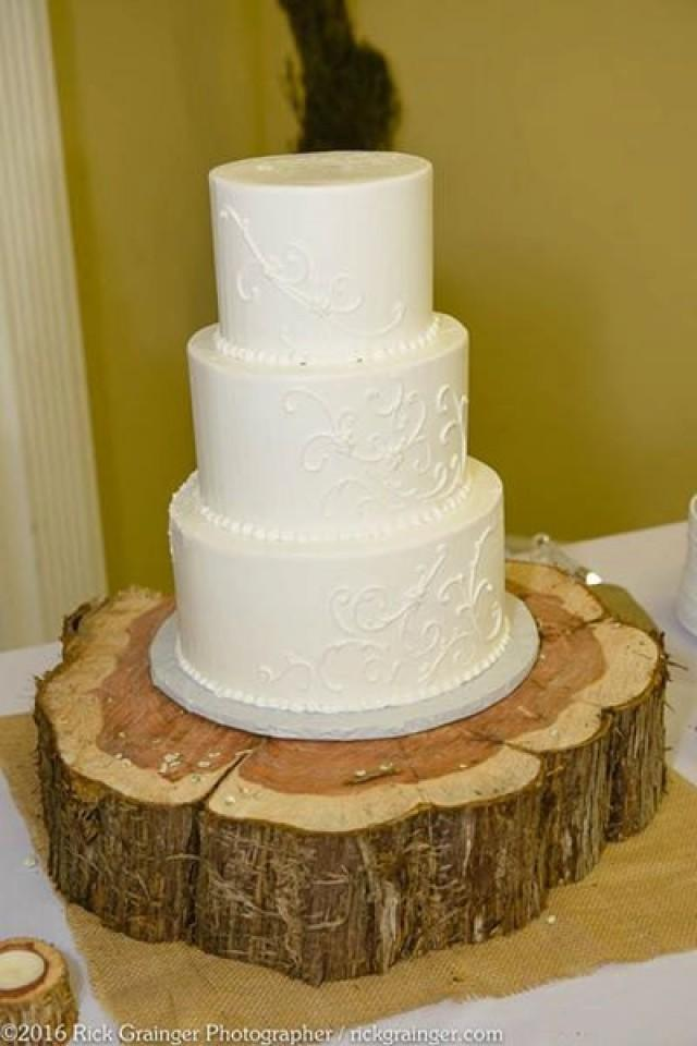 Rustic Wood Cake Stand, Handmade, Wedding Cake Stand, Up To 20 ...