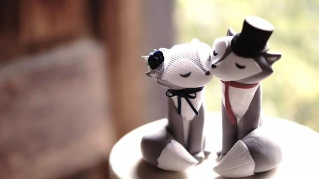 Wolf Wedding Cake Topper Unique Wedding Cake Topper