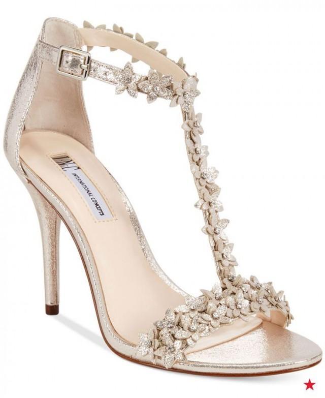 Strap Embellished Evening Sandals