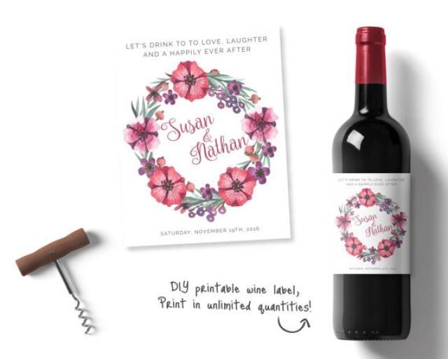 Personalised Wedding Wine Personalised Wine Labels