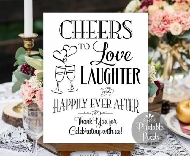 Cheers To Love Laughter And Happily Ever After Printable