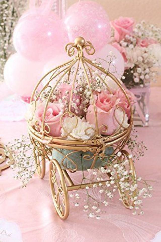 inspired by disneys fairytale wedding cinderellas carriage coah pumpkin table centerpiece 2574977 weddbook