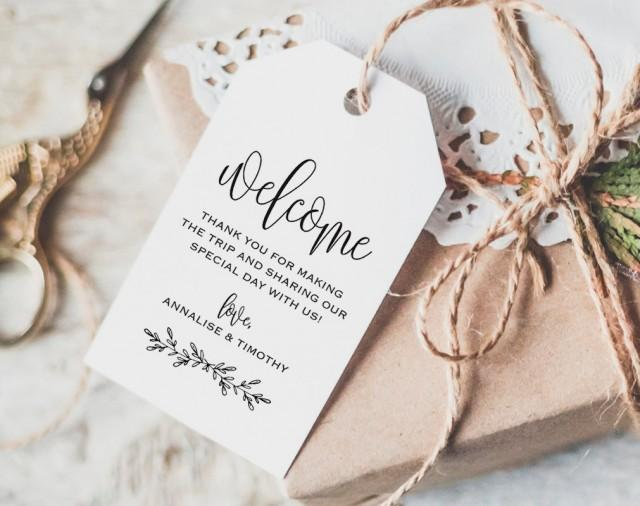 Wedding Labels For Gift Bags: Welcome Tag, Wedding Welcome Bag Tag, Wedding Welcome Gift