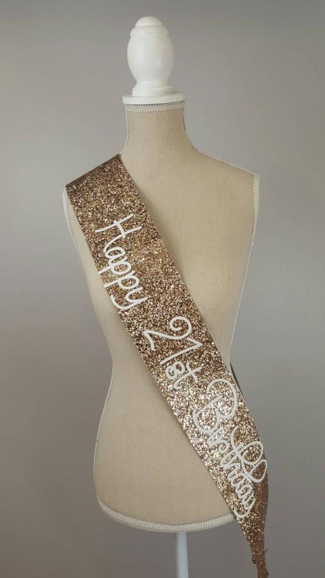 21st Birthday Sash Glitter Sash Personalised Sash