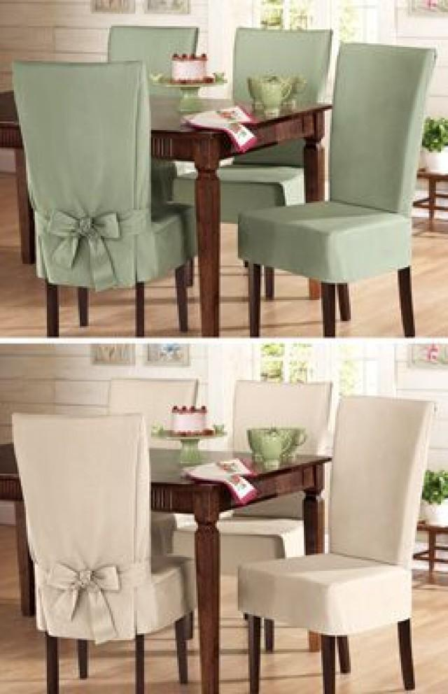 Sure Fit Cotton Dining Chair Slip Cover From Collections Etc 2575268 Weddbook