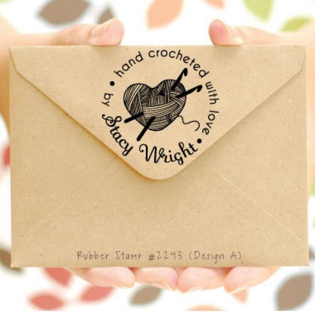 Personalized Crochet Stamp O Hand Crocheted With Love By Created Handmade P2243 2575542