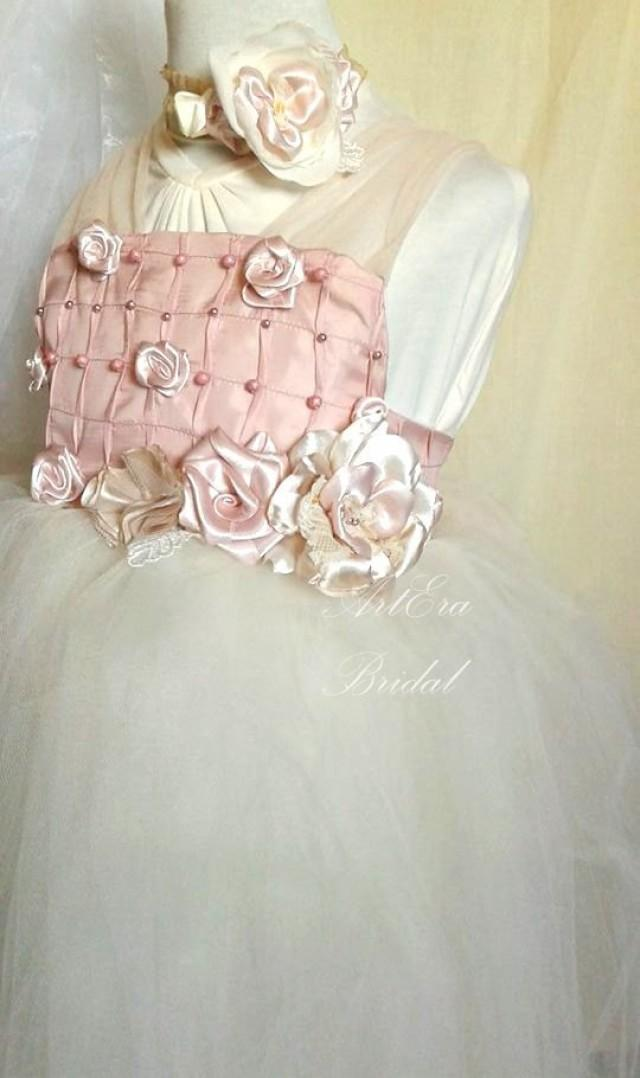Couture Vintage Style Wedding Dress 6 7 Old Girl Flower