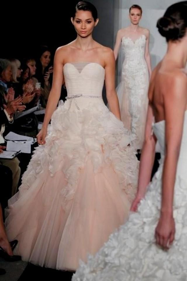 Pink Wedding Dress Say Yes To The Dress World Dresses #2577755 ...