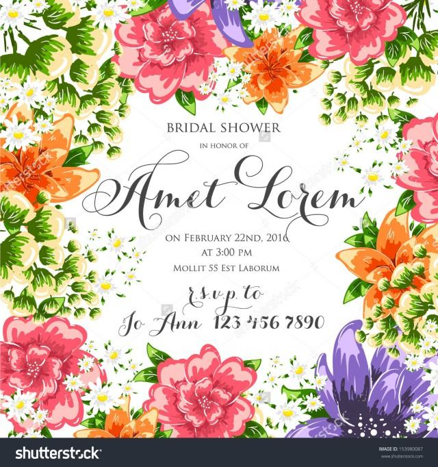 Flower Vector Background Brochure Template. Set Of Floral