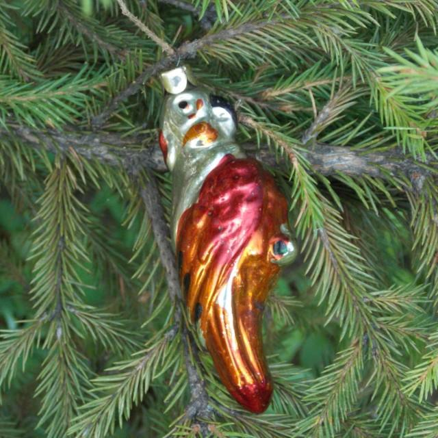 orange parrot vintage christmas ornaments figural bulbs blown glass christmas tree decor soviet vintage christmas decoration hand painted 2579097