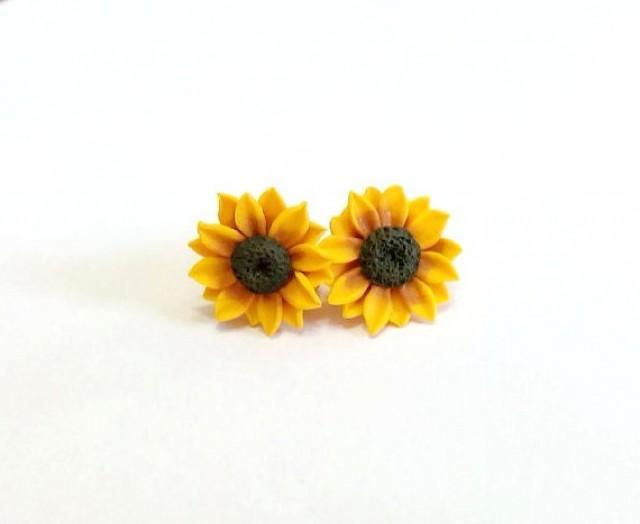 Sunflower Stud Earrings Summer Flower Flower Earrings