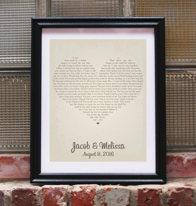 Wedding Vows Gifts Ideas: Wedding Gift Song Lyrics Personalized Wedding Gifts For