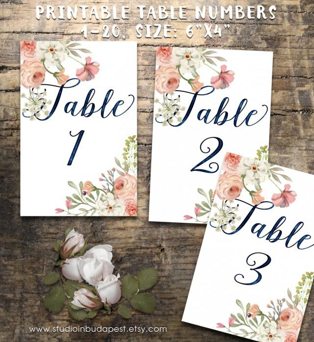 This is a photo of Old Fashioned Free Printable Table Numbers 1-20