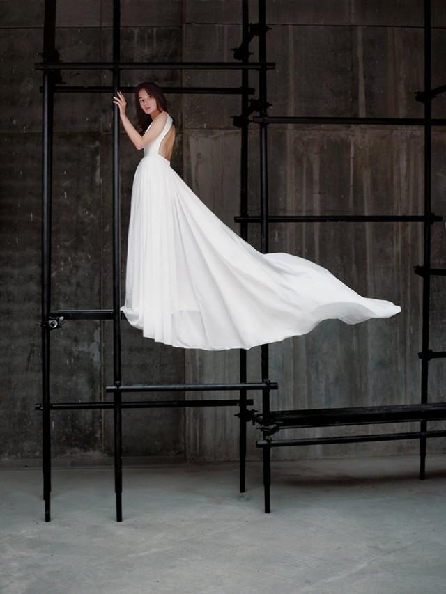 Ida Open Back Wedding Dress Low Back Wedding Dress Sexy Wedding Gown Dramatic Wedding Dress Plunging Neckline Wedding Dress 2579948 Weddbook