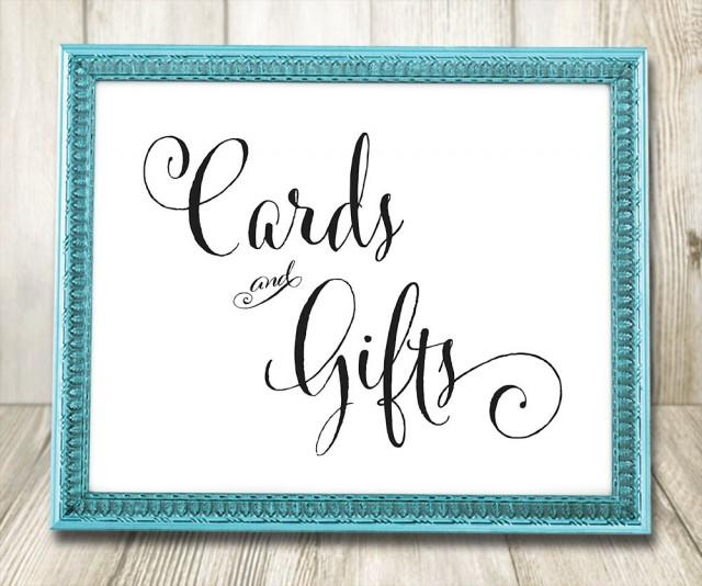 Cards And Gifts Wedding Sign Printable Wedding Signs
