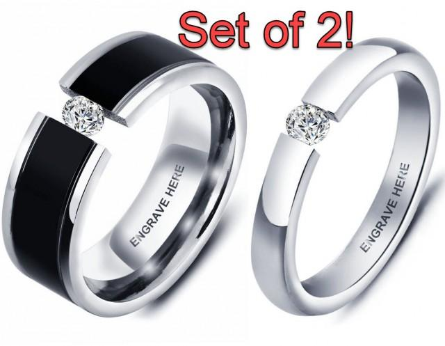 promise ring set promise rings for couples his and her
