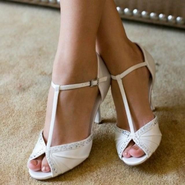 Tiffany By Westerleigh Ivory Or White Vintage T Bar Wedding Occion Shoes 2580593 Weddbook