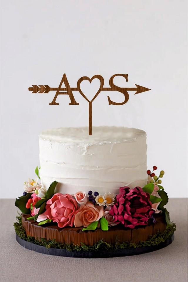 arrow cake topper with initials wedding arrow cake topper personalized topper bridal shower cake topper rustic wedding arrow cake topper 2580726 weddbook