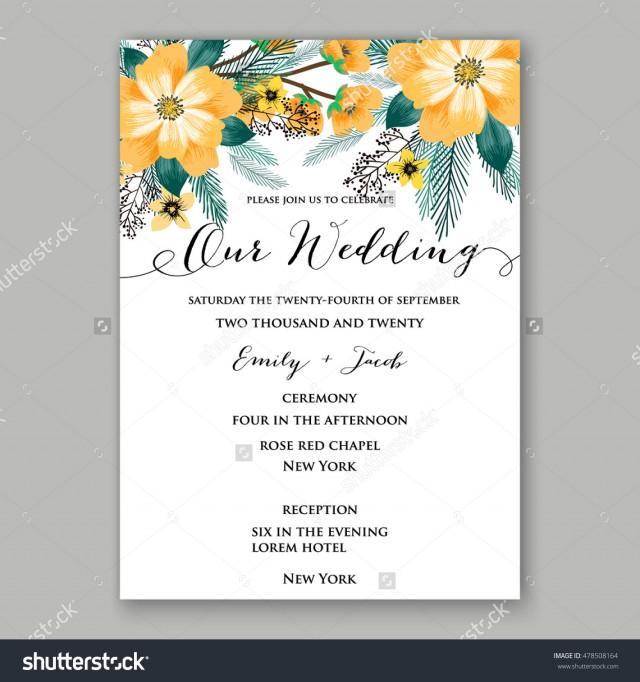 Poinsettia Wedding Invitation Sample Card Beautiful Winter Floral