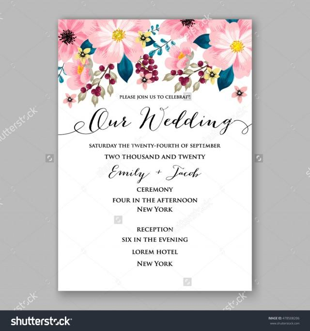 Samples Of Wedding Invites: Poinsettia Wedding Invitation Sample Card Beautiful Winter