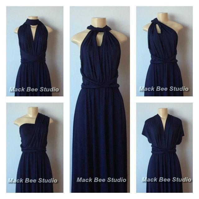 5592cae98b Navy Long Infinity Bridesmaid Dress
