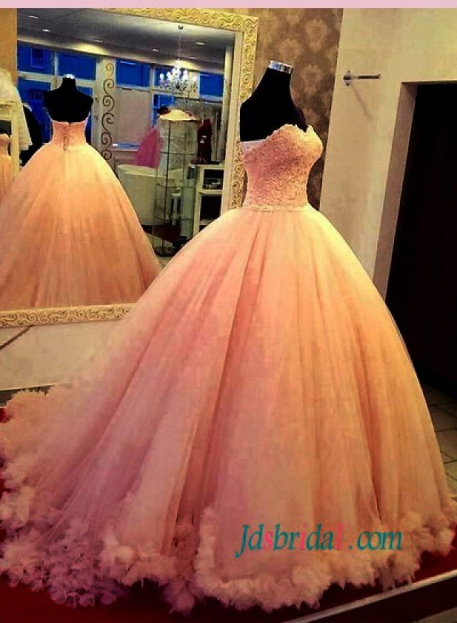b57401c566f72 Feminie Pink Colored Princess Ball Gown Wedding Dress #2582241 ...