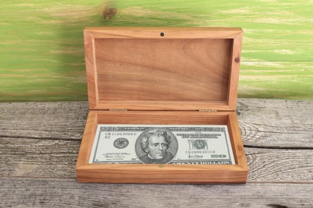 Wedding Money Card Box Money Box Wooden Storage Box