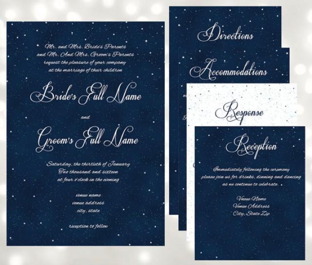 Starry night under the stars pocket fold wedding invitations starry night under the stars pocket fold wedding invitations edit and print at home in adobe 2582816 weddbook solutioingenieria Images