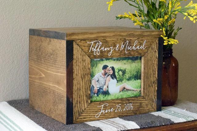 Personalized Wedding Card Box, Wedding Card Box, Wedding Photo Box ...