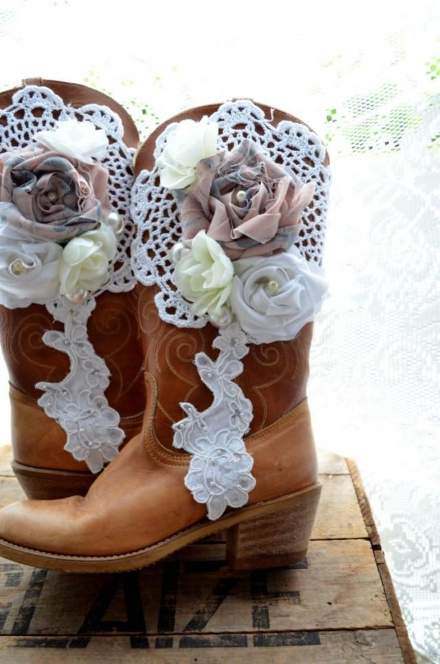 Vintage Cowboy Boots Romantic Fall Country Chic Western