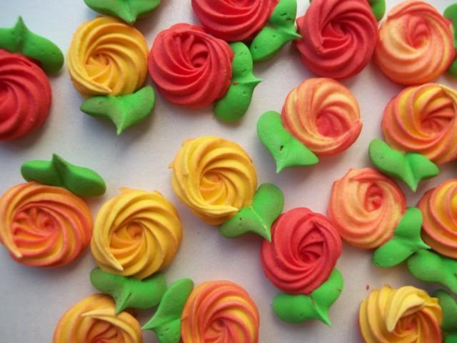 Fall Cupcake Decorations Part - 45: Fall Colors Royal Icing Rosettes With Attached Leaves -- Cake Decorations  Cupcake Toppers Fall Autumn (24 Pieces) #2584138 - Weddbook