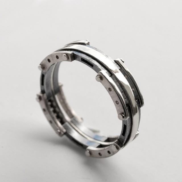 platinum male wedding rings platinum wedding band men s and oxidized silver ring black white - Mens Wedding Rings Platinum