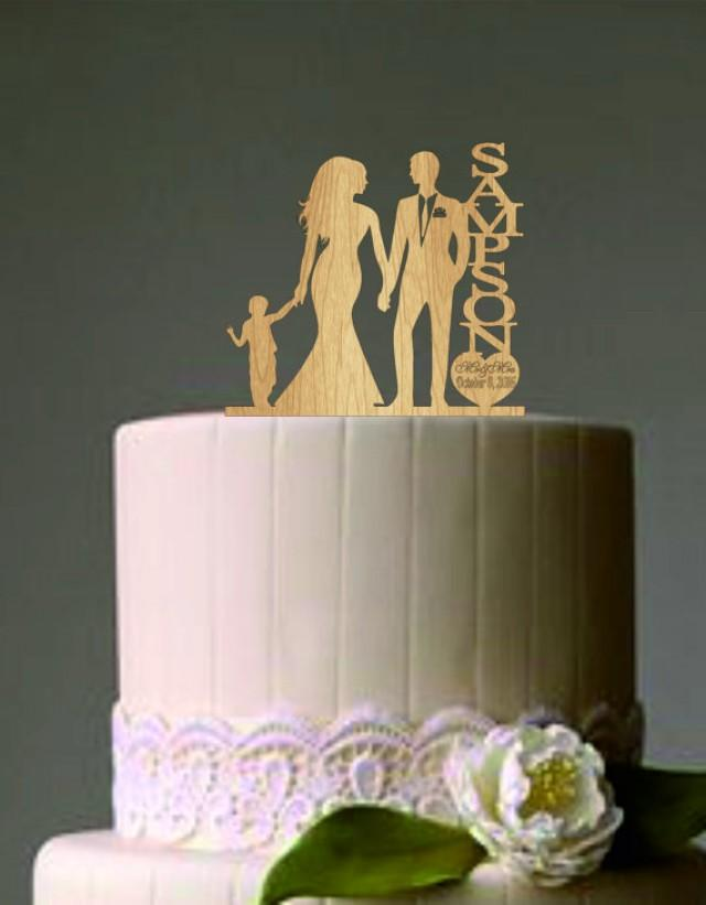 Family Wedding Cake Topper With Little Boy Bride And