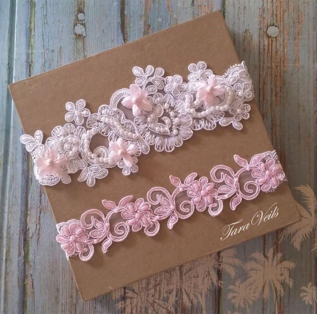 Wedding Dress Garter: Wedding Garter Set,Bridal Garter Pink,Bridal Garter Pink