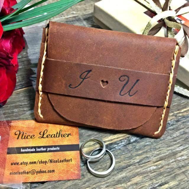 Flap Wallet, Anniversary Gifts For Him, Personalized Wallet ...