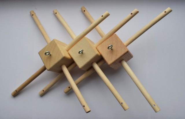3 Pc Diy Mobile Hanger Baby Crib Wooden Mobile