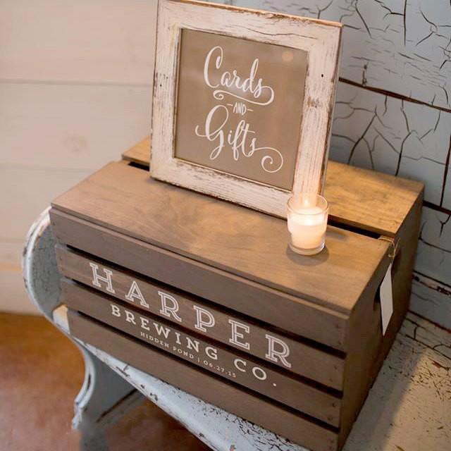 Wedding Card Gift Boxes: CUSTOM Beer Crate Wedding Card Box, Gift Box, Wedding