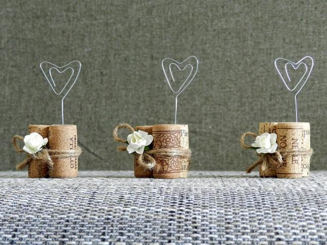 place card holders  wine tasting party decor  winery wedding decor  wine cork place card holder