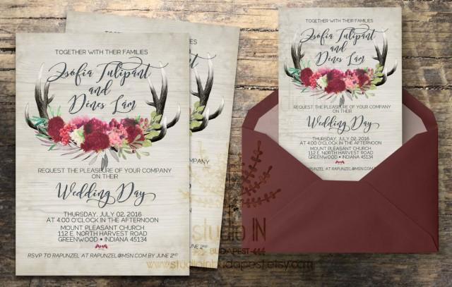 Diy Calligraphy Wedding Invitations: Rustic Wedding Invitation, Rustic Wedding, Invite