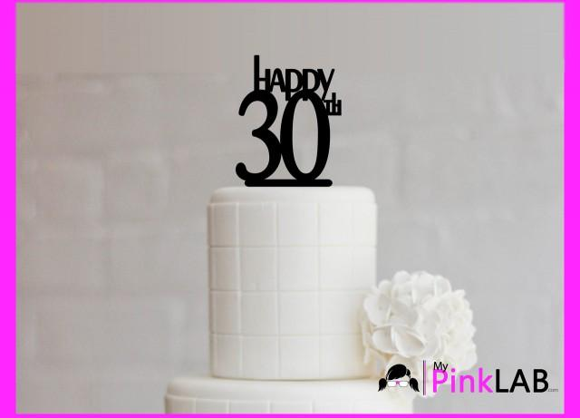 Cake Decor Rustic Happy Birthday Topper All Toppers 30th 2593176