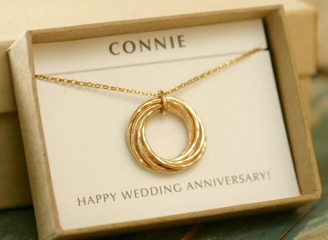 Gifts For Wife On Wedding Anniversary: 7 Year Anniversary Gift For Wife Necklace, 7th Anniversary