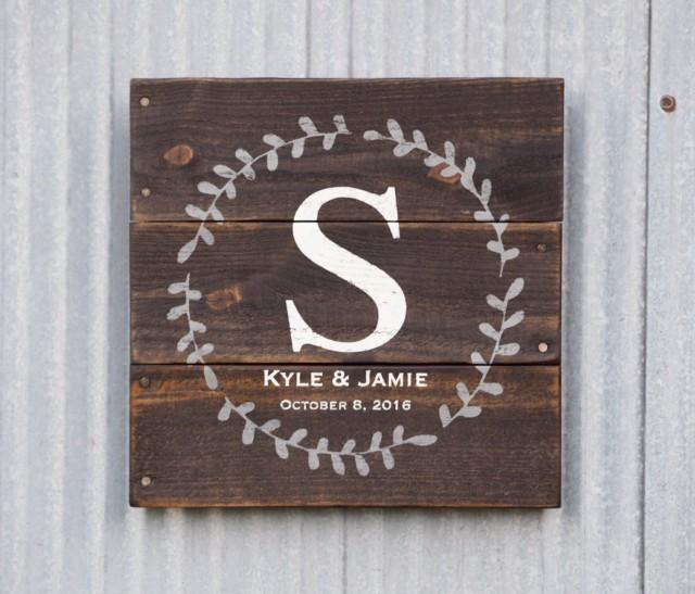 Wedding Date Gift Ideas: Wedding Gift Sign, Name Established Date Sign, Custom