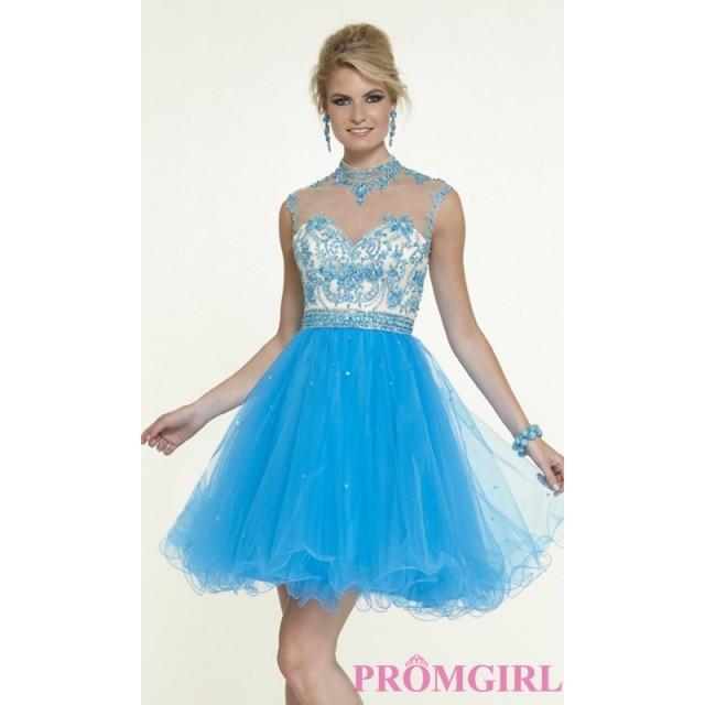 Short Illusion Sweetheart Babydoll Dress By Mori Lee - Brand Prom ...