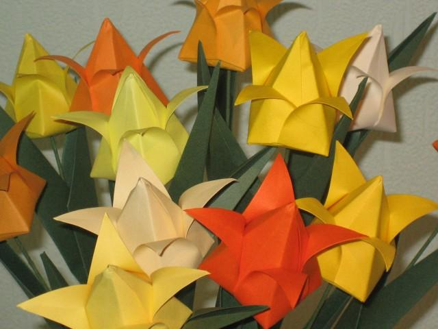 Tulips shades of yellow origami flower arrangement 2594916 tulips shades of yellow origami flower arrangement 2594916 weddbook mightylinksfo