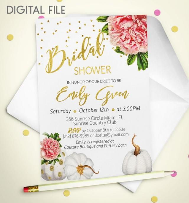 Bridal Shower Invitation Marsala Printable Invite Bridal