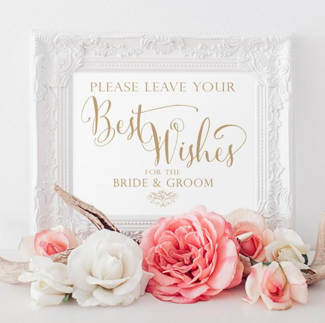 Best Wishes For The Bride And Groom Sign #2596452